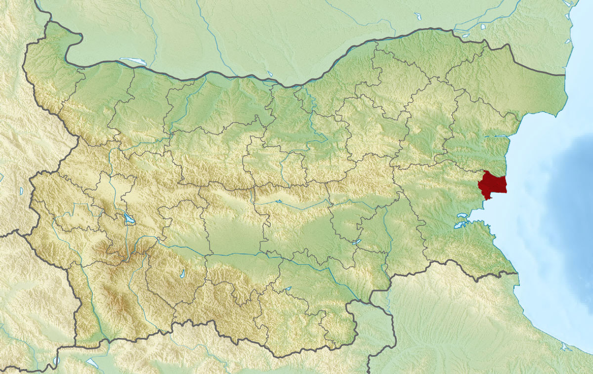 Relief Map of Bulgaria Ness